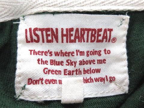 リッスンハートビート LISTEN HEARTBEAT パーカー ロゴ プリント ジップアップ M 緑 グリーン ※MH レディース