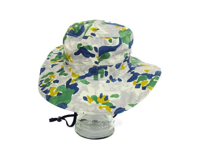 コロンビア Columbia 帽子 アウトドアハット ゲッパーブーニー 迷彩 紐付き S/M グレー /☆o メンズ レディース ベクトル【中古】