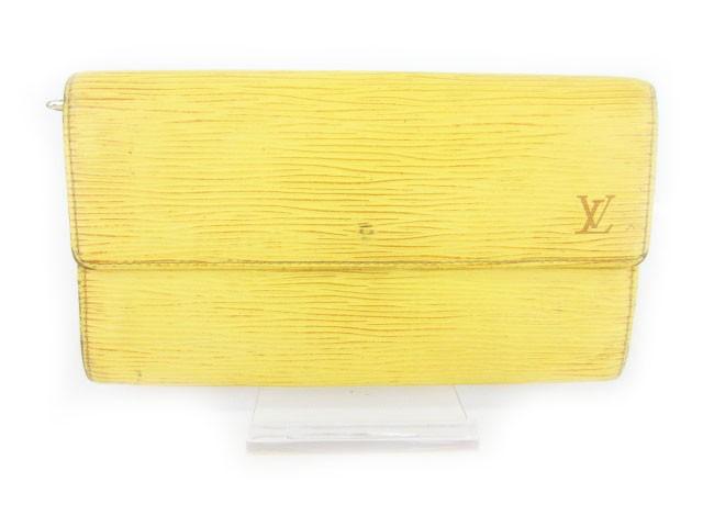 ab3dc08dbc43 ルイヴィトン LOUIS VUITTON ポシェット ポルトモネ クレディ エピ 長財布 二つ折り 黄 イエロー M63579 ベクトル