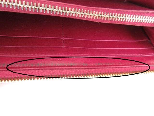 quality design 94a61 0ebbf 【中古】ミュウミュウ miumiu 長財布 L字ファスナー リボン エナメル 赤 レッド /kt レディース|au Wowma!(ワウマ)