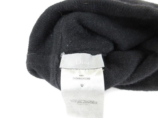 the best attitude 54c98 1b176 【中古】ディオールオム Dior HOMME 帽子 ニット帽 キャップ キャメル 黒 ブラック /kt メンズ|au Wowma!(ワウマ)