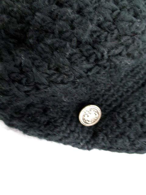 ユナイテッドアローズ UNITED ARROWS 帽子 キャスケット ニット 黒 /SR7 レディース ベクトル【中古】