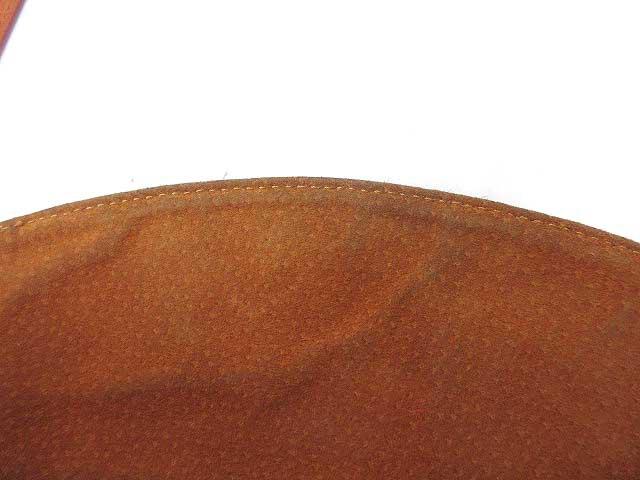 ヒロフ HIROFU トート ショルダーバッグ 丸型 レザー 茶 /MK レディース ベクトル【中古】