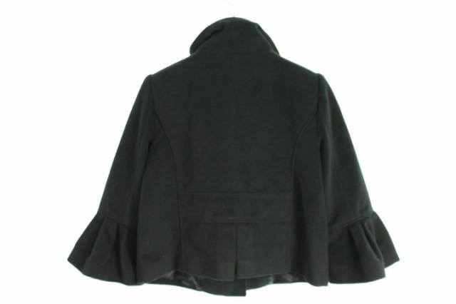 オゾック OZOC コート ショート丈 七分袖 38 黒 レディース ベクトル【中古】