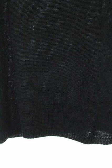 エヴー ET VOUS ニット セーター 半袖 ビジュー 黒 /HK レディース ベクトル【中古】