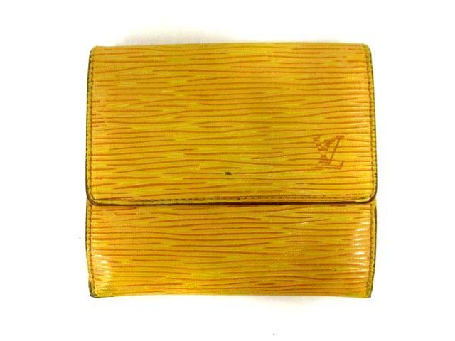 new product 5dd3c 68050 【中古】ルイヴィトン 財布 エピ ポルトモネ ビエ カルト クレディ 二つ折り ダブルホック タッシリイエロー 黄色 紫 M63489|au  Wowma!(ワウマ)