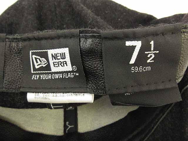 ニューエラ NEW ERA 帽子 キャップ Cooperstown Collection NY ニューヨーク ウール ダークグレー 7 1/2 0106 メンズ ベクトル【中古】