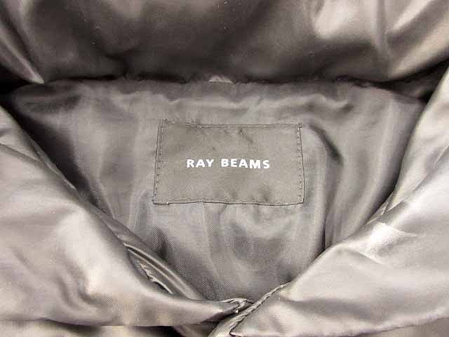 レイビームス Ray Beams ダウンジャケット アウター 無地 ポリエステル 黒 ブラック 0118 レディース ベクトル【中古】