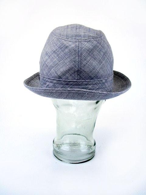 ボルサリーノ Borsalino 帽子 ハット ソフト帽 ベンチレーション メッシュ ウール混 57cm グレー /ms メンズ レディース