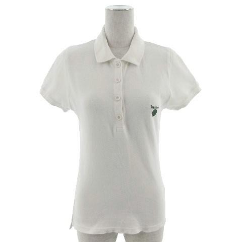 【】ヒステリックグラマー HYSTERIC GLAMOUR ポロシャツ 半袖 刺繍 アップル オフ白 F レディース