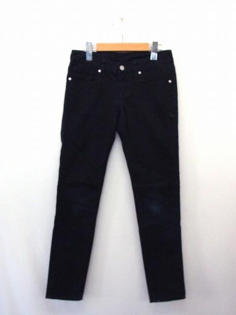 62559e5455b0 ジーユー GU パンツ ボトムス スキニー ジップ ポケット コットン 綿 61 ブラック 黒 /UT16 レディース ベクトル