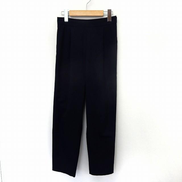 【】カージュ Khaju パンツ スラックス テーパード ウエストゴム シンプル ネイビー 紺 /ST33 レディース
