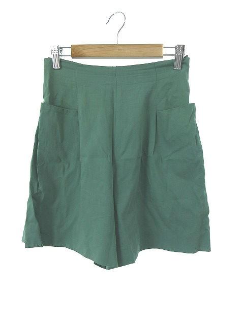 【】シビラ SYBILLA パンツ キュロット ジップフライ 緑 グリーン /NN33 レディース