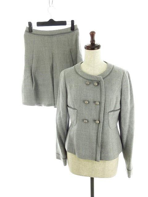 【】グリーンレーベルリラクシング ユナイテッドアローズ スーツ ジャケット 上下 ジャケット スカート 38 グレー