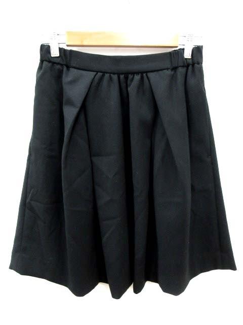 【】アーバンリサーチ URBAN RESEARCH スカート フレア ミニ F 黒 ブラック /YI レディース