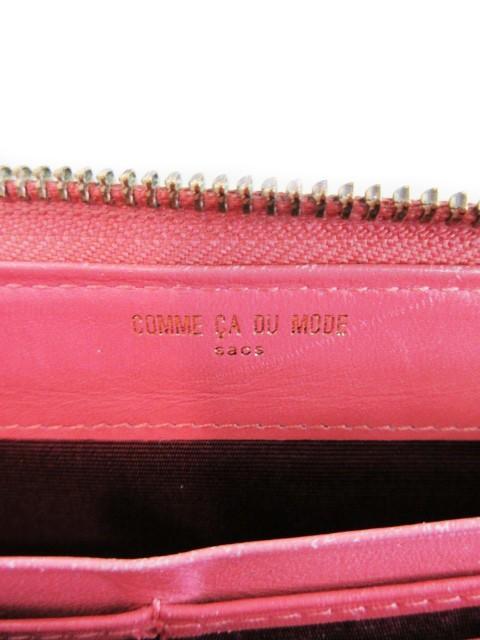 53105b3e09f4 コムサデモード COMME CA DU MODE sacs 財布 長財布 ラウンドファスナー 小銭入れ キップスキン ピンク
