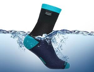 防水通気靴下 DexShellクールベントライトソックスDS638(アクアブルー)