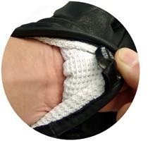 切創耐性に優れたダイニーマ繊維を使用