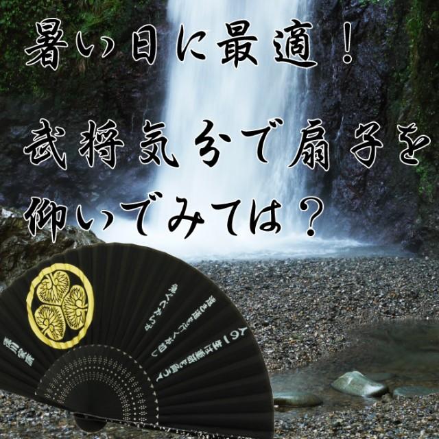 送料無料 徳川家康家紋入りシルク扇子 戦国武将扇子 An017