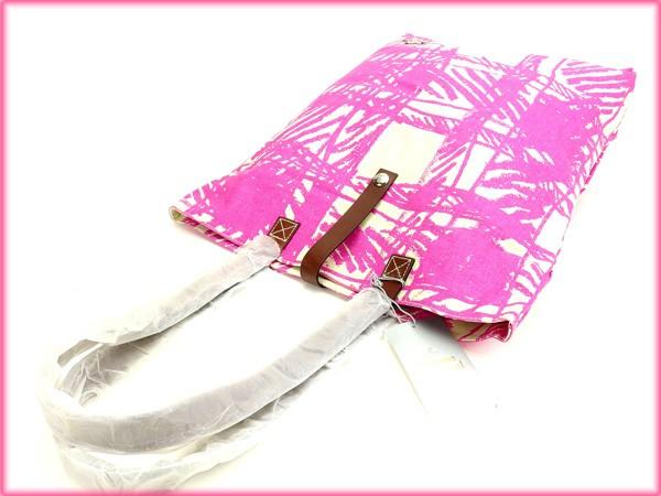 ヴィヴィアン・ウエストウッド バッグ Vivienne Westwood トートバッグ ピンク×ホワイト (人気・美品) 【中古】 X5861