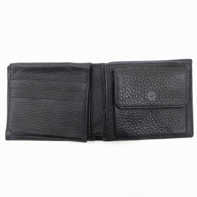 ダンヒル 財布 dunhill 二つ折り財布 ブラック 美品 即納 【中古】 X8975