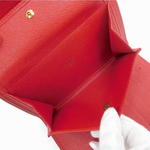 ルイヴィトン 財布 LOUIS VUITTON 二つ折り財布 三つ折り財布 ポルトトレゾールエテュイ レッド 美品 即納 【中古】 X9008