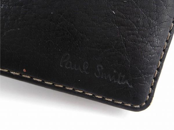 ポールスミス カードケース Paul Smith カードケース ブラック 即納 【中古】 X15688