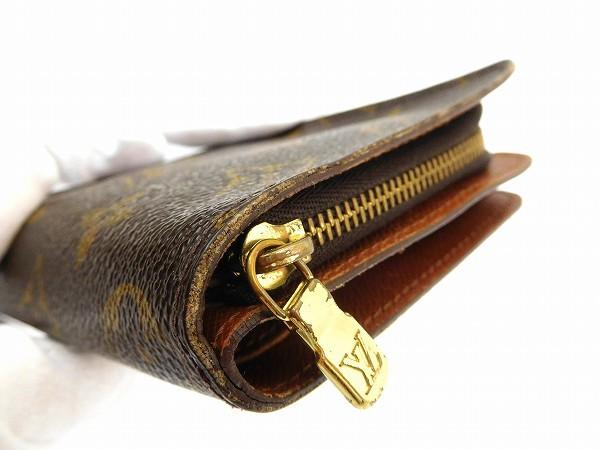 ルイヴィトン 財布 LOUIS VUITTON 二つ折り財布 ラウンドファスナー財布 コンパクトジップ ブラウン 人気 即納 【中古】 X13942