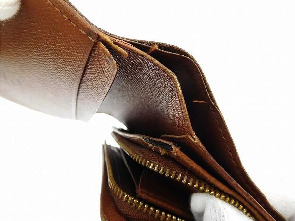 ルイヴィトン 財布 二つ折り財布 L字ファスナー財布 メンズ可 ポルトモネジップ ライトブラウン×ブラウン 人気 即納 【中古】 X15663