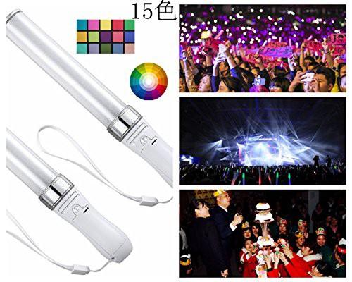 ペンライト LED ももいろクローバーzグッズ 15色 電池交換式 コンサート ライブ イベント アイドル カウントダウン [並行輸入品]