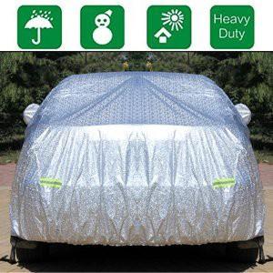 CHELIYA ボディーカバー 車 カーカバー 4層構造 裏起毛タイプ 防水防塵防輻射紫外線 車カバー 汎用 (475cm*180cm*150cm)