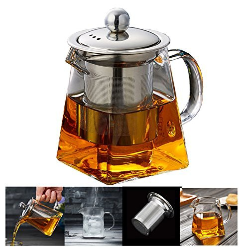 ティーポット 300ミリリットル 急須 ガラス 紅茶ポット かわいい 形状 デザイン