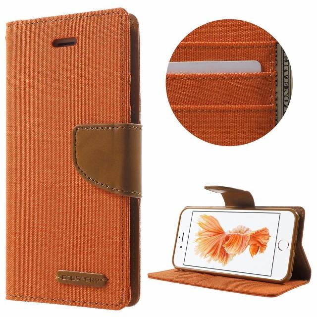 iPhone 8 レザーケース iPhone 7 レザーケース オレンジ アイフォン8 / アイフォン7 手帳 財布