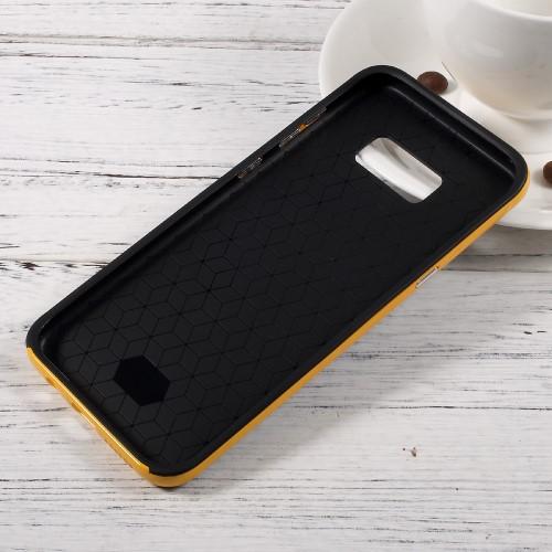 Galaxy S8 ハードケース イエロー 液晶保護フィルム付き スマホケース  ギャラクシーS8 背面型耐衝撃 超薄軽量