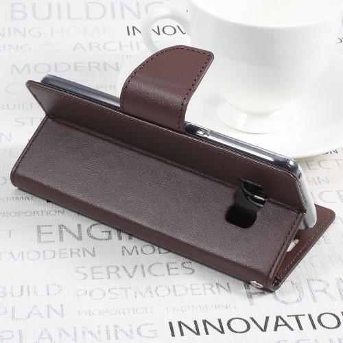 Galaxy S8 レザーケース コーヒー 液晶保護フィルム付き スマホケース  ギャラクシーS8 カバー 手帳型スタンド機能 ICカードスロット 札