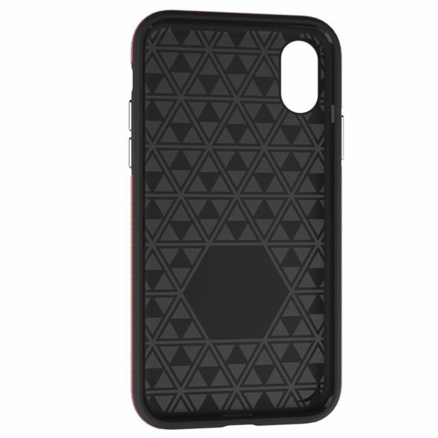 iPhone X ハードケース ローズ 強化ガラス保護フィルム付き スマホケース  アイフォン X 背面型 超薄軽量