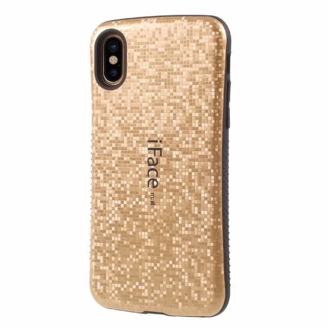 iPhone X ハードケース ゴールド 強化ガラス保護フィルム付き スマホケース  アイフォン X 背面型 超薄軽量