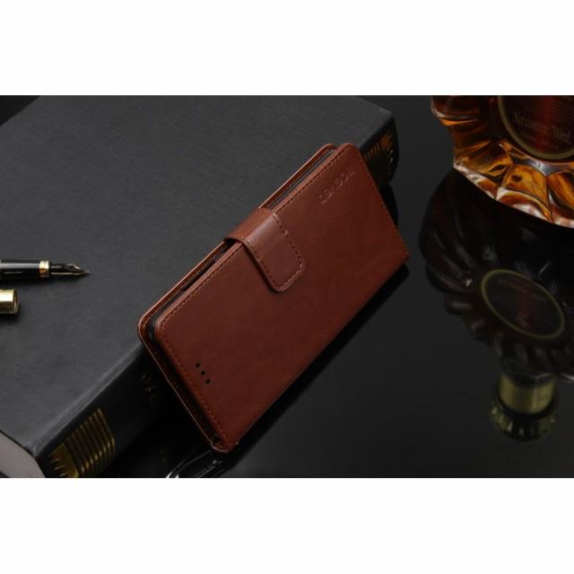 Xperia XZ1 SO-01K レザーケース ブラウン 液晶保護フィルム付き スマホケース  エクスペリア XZ1 カバー 手帳型スタンド機能 ICカードス