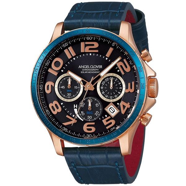 大人気 【正規品】Angel Clover エンジェルクローバー 腕時計 LUS44P-NV メンズ LUCE SOLARE ルーチェソラーレ ソーラー, アヤセシ 8424003f