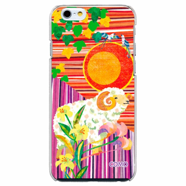 iPhone6S Plus専用 ケース COMO 004 羊と太陽 デザイン スマホカバー apple