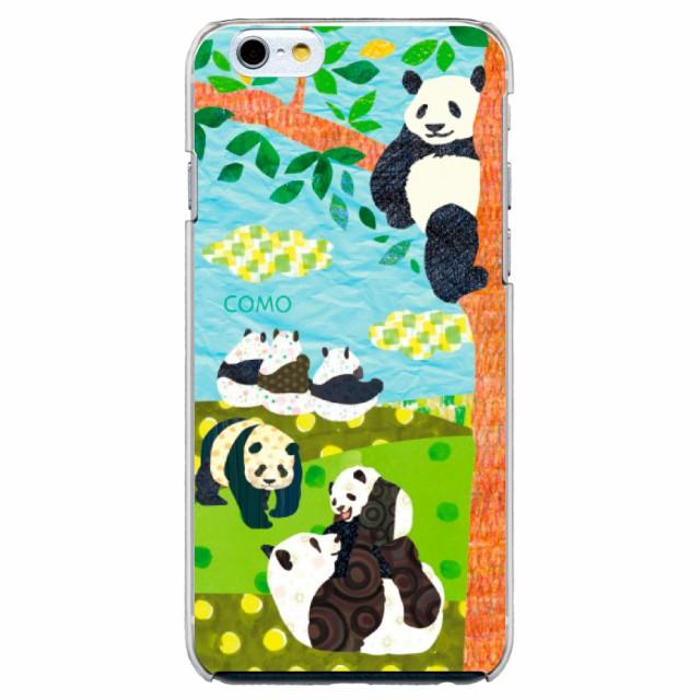 iPhone6 Plus専用 ケース COMO 006 パンダの午後 デザイン スマホカバー apple