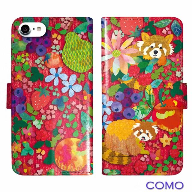 iPhone6S-Plus専用 手帳型ケース COMO com087-bl フルーツレッサー レッド 可愛い イラスト コラージュ デザイン セレクトショップ スマ