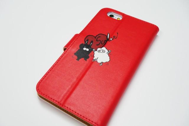 スカラー Apple機種専用 手帳型 スマホケース60381-bl  ウサギ ビスケット スカラコ ピンク かわいい