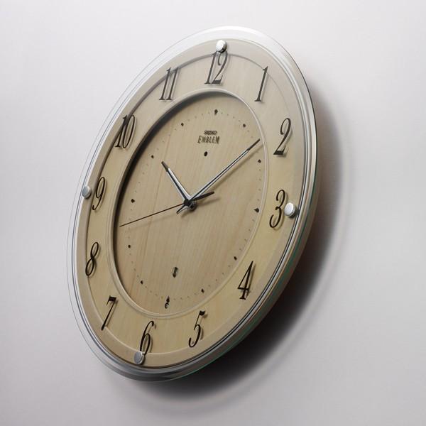 sale retailer ac691 778e9 SEIKO セイコー 掛け時計 スタンダード EMBLEM エムブレム 掛け時計 スタンダード 壁掛け 電波 HS558B 木枠 スイープ  おしゃれ|au Wowma!(ワウマ)
