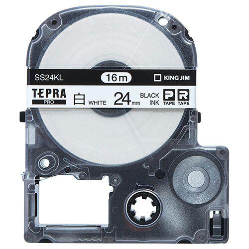 KING JIM テプラ PRO テープカートリッジ ロングタイプ 24mm 白/黒文字 1個