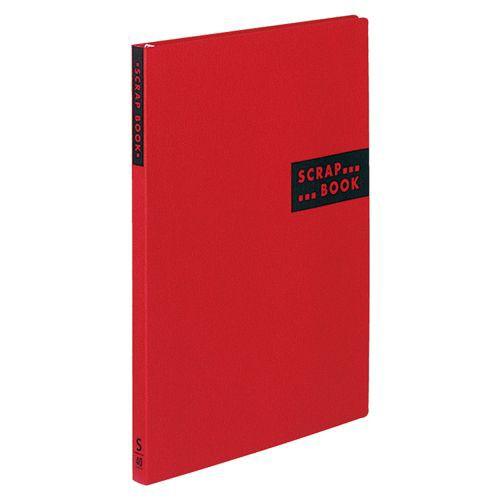 コクヨ スクラップブックS(スパイラルとじ・固定式) A4 中紙40枚 背幅20mm 赤 1冊