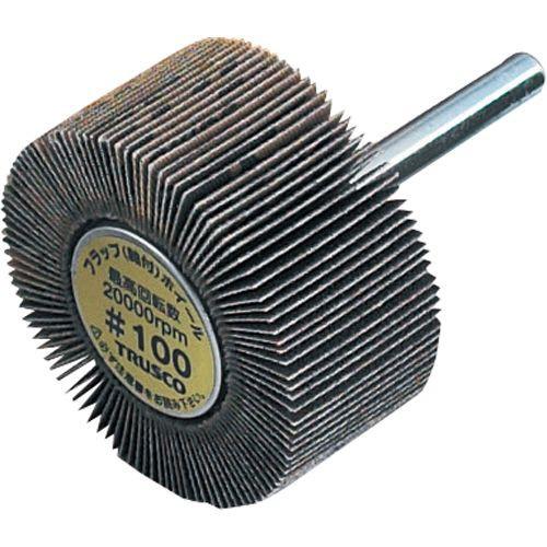 TRUSCO フラップ(軸付)ホイール(軸径φ6mm) 外径φ80mm #40 1箱(5個)