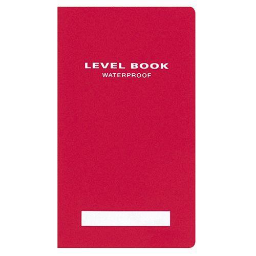 コクヨ 測量野帳(ブライトカラー) 耐水・PP表紙 レベル 合成紙 30枚 赤 1冊