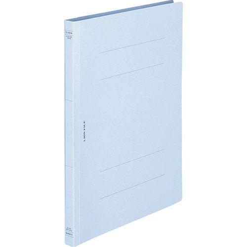 ライオン事務器 フラットファイル(環境) 樹脂押え具 A4タテ 150枚収容 背幅18mm ライトブルー 1セット(10冊)