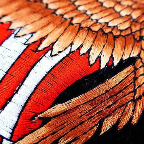 ◎ ワッペン 刺繍 イーグル 大きいワッペン アイロンプリント WF-07 エンブレム ビッグワッペン ウエスタン